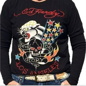 NWT Men's Ed Hardy Death or Glory Shirt